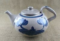 1991 BBP Beaumont Brothers Pottery Vintage Blue Flower Teapot Nice