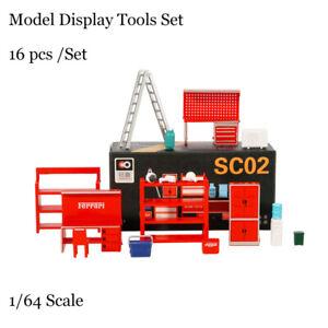 Xcar Diorama 1/64 Model Display Tools Set 16 PCS / Set For Garage Parking Lot