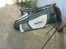 Vintage Macgregor Tourney Carry Stand Golf Bag Green White & Black In Color Dual