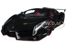 LAMBORGHINI VENENO BLACK WITH RED LINE 1/18 DIECAST MODEL CAR KYOSHO 09501 MBK