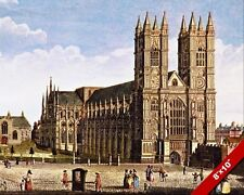 WESTMINSTER ABBEY LONDON ENGLAND GOTHIC ST PETER PAINTING ART REAL CANVAS PRINT