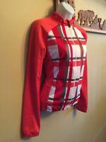 Women's M Sugoi Full Zip Thermal Long Sleeve Cycling Jersey Jacket Medium Fleece