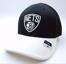 Brooklyn Nets Adidas NBA Basketball TeamLogo Meshback Cap Hat L/XL