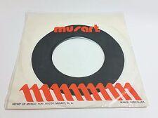 Musart Records Company 45 RPM Record Sleeve Plastic