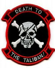 BATTLE TESTED ELITE WARRIOR SPECIAL WARFARE IRON-ON INSIGNIA: Death to Taliban