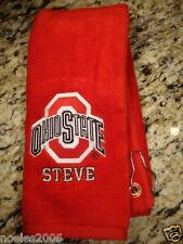 Personalized Embroidered Golf Bowling Workout Towel Ohio State