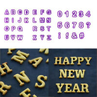 40x Letter Number Fondant Cookie Cutters Biscuits Baking Molds Stamps Cake Decor