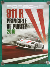 PORSCHE OFFICIAL SHOWROOM 911 R POSTER SET OF TWO 2016 NEW RARE.