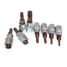 """8 Piece 1/4"""" Square Drive Torx Bit Sockets Set T8 T10 T15 T20 T25 T27 T30 T40"""