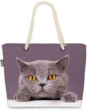 Katze Britisch Kurzhaar Beach Bag Katze Kätzchen Tier Haustier Kartäuser Cat