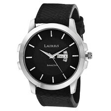Laurels Large Size Invictus Series Black Color Men Watch (LO-INC-602)