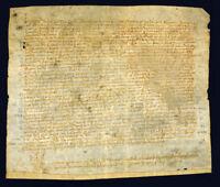 Documento latino su pergamena. 27 luglio 1536.
