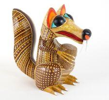 Alebrije Scrat Squirrel Oaxacan Wood Carving Mexican Folk Art Ice Age Sculpture