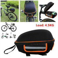 Bicycle Bikes Alloy Rear Rack Carrier Storage Pannier Pack Frame Seat Bag Black