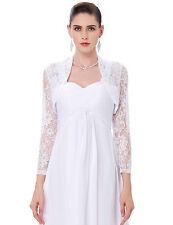 Fashion Ladies Cropped Lace Bolero Shrug Women Wedding Party Open Cardigan Tops