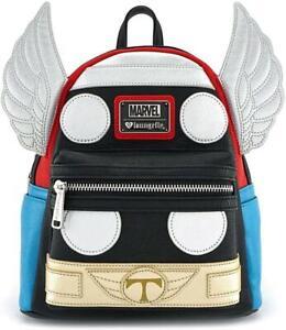 Thor Avengers Backpack SchoolBag PU Leather Shoulder Bag Bookbag Marvel 01
