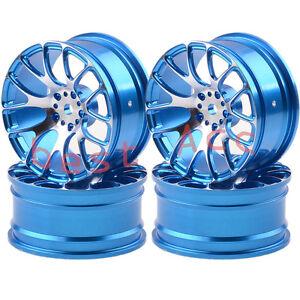 4xWheels Rim 1055 BLUE Alumin 7Y Spoke On-Road Drift Sakura HSP Tamiya RC 1/10