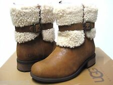 UGG BLAYRE II WOMEN SHORT BOOTS LEATHER CHESTNUT US 7 /UK 5.5 /EU 38 /JP 24
