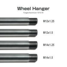 set of 4 wheel hanger kit M14x1.5 M4x1.25 M12x1.5 M12x1.25 each size 1 pcs