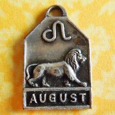 Vintage 1940's AUGUST LEO LION ZODIAC Art Deco Silver Plated Charm