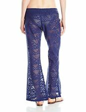 Rip Curl 'Lovebird' Blue Cover-Up Lacy Sheer Pant Sz XS NWT Retail $60