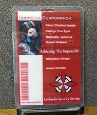 Resident Evil ID Badge-Umbrella Corporation Christine Yamata costume cosplay