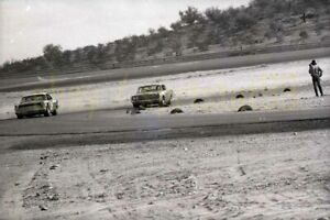 Racing Action Shot - 1968 USAC Stock Car Race @ Phoenix - Vintage Negative