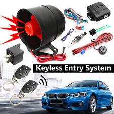Car Security System Alarm Keyless Central Locking Shock Sensor + Remote Control