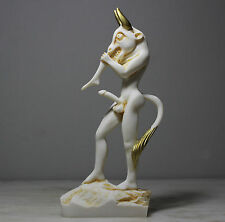 Minotaur Satyr Greek Roman Male Statue Nude Alabaster Sculpture Figure 9.5in