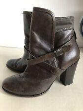 G-star Raw Ladies Brown Lwather Boots Size 38 Uk 5 Heels