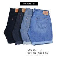 Mens Vintage Levi Strauss Loose Fit Denim Shorts (Grade B) Various
