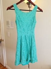 H&M Teal Turquoise Sleeveless Lace Summer Dress Size XS
