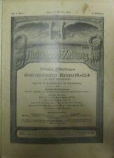 * AAZ - Allgemeine Automobil - Zeitung Österreich Nr. 9 1909 Gräf & Stift