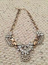 J. Crew Clear Crystal Statement Necklace NWOT