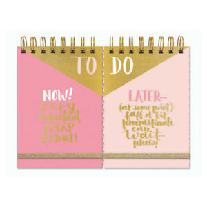 To Do Now Later Double Notebook Pad List Stationery Rachel Ellen Tasks Daily