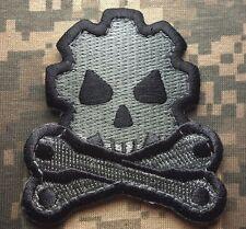 DEATH MECHANIC ARMY MORALE BADGE US ISAF ACU DARK VELCRO® BRAND FASTENER PATCH