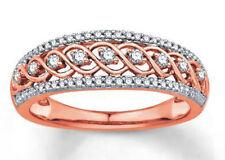 1.26ct NATURAL DIAMOND 14K ROSE  GOLD ENGAGEMENT WEDDING ANNIVERSARY BAND RING