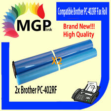 2x BROTHER PC-402RF COMPATIBLE ink film ribbon FAX 645 685 685MC 727 737 780 878