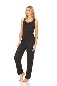 PJL9050 Women Pajamas Pants Set Sleeveless Sleepwear Woman Sleep Nightshirt