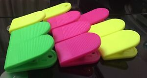 Bulldog Large Extra Strong Clips-  Plastic  - Paper Binder Grip - Receipt Filing