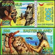 EASTER ISLAND 500 RONGO 2012 AU / UNC POLYMER NEW