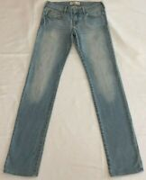 Abercrombie Kids A&F Girls Light Blue Distressed Straight Leg Jeans Size 16