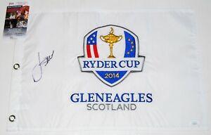 JORDAN SPIETH signed (2014 RYDER CUP) GLENEAGLES Golf Pin flag PGA JSA W/COA #4