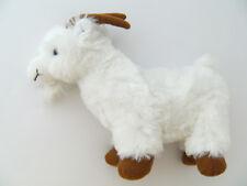 Ziege 24cm weiß Plüschtier Kuscheltier Stofftier Ziegen Geiss Ziegenbock neu