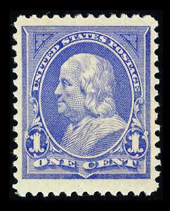 US #246; 1¢ FRANKLIN, VF/XF-OG-NH, Printout of PSE GRADED Cert (85J), SMQ $190
