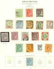 Edw1949Sell : Great Britain 1902-11 Scott #127-38 Complete Vf Used set Cat $433.