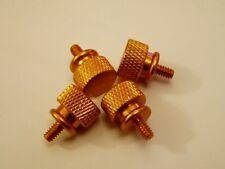 Anodized Aluminum Thumb screws Gold 4 Pcs.