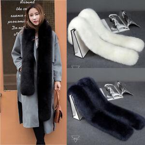 Women Soft Fur Long Collar Scarf Fluffy Winter Shawl Wrap Stole Warm Scarfs UK