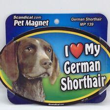 I Love My German Shorthair Magnet Pointer Dog Refrigerator Car Metal Oval 6x4