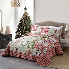 3Pc Quilt Bedspread Sets Bedding Coverlet Bedroom Floral Queen King Size, BY009